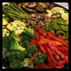Vegetables are key. Use Wansink's half-plate rule to make sure your plate is always at least half vegetables. Resolve to only get seconds if you are going to go back for vegetables, and at buffets such as this one, fill up on the healthy stuff for the volume effect - make yourself feel full - before going back for snacks and sweets.