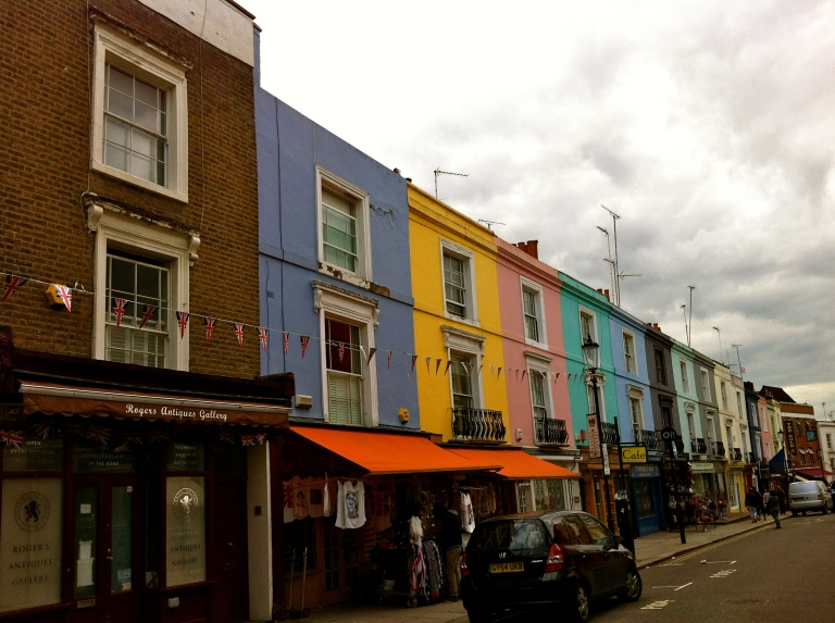 Portobello Road Market.— in London, England.
