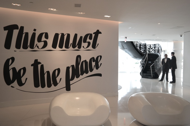 """This must be the place."" At the Mondrian South Beach. — at Miami, Florida, USA."