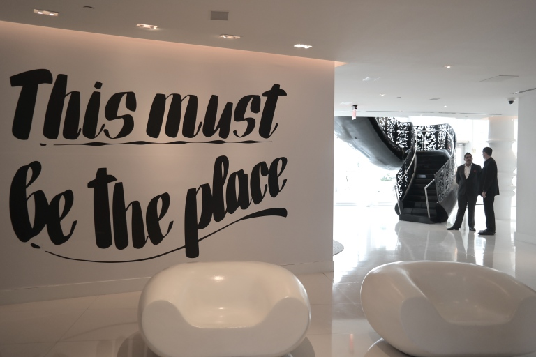 """""""This must be the place."""" At the Mondrian South Beach. — at Miami, Florida, USA."""